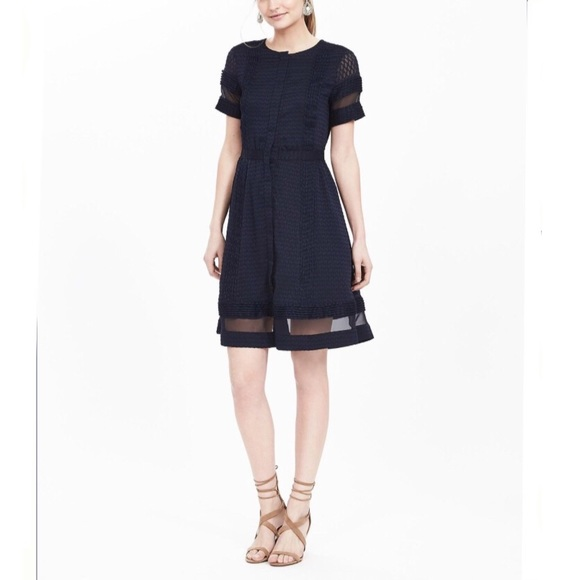 fe100221ab86 Banana Republic Dresses & Skirts - Banana Republic Geo Lace Sheer-Panel  Dress